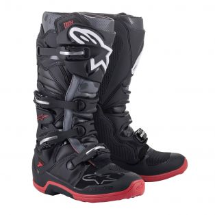 Tech 7 Boots Black/Cool Grey/Red
