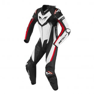 MKGP motorcycle riding suit - Certified AAA White/Black/Fluo Red