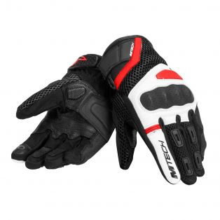 Tempest Motorcycle gloves Black/White/Red