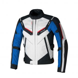 Overtrack motorcycle jacket Ice/Black/Blue