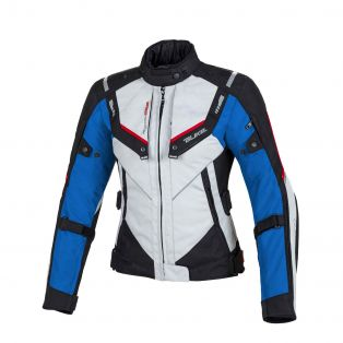 Overtrack women's motorcycle jacket Ice/Black/Blue