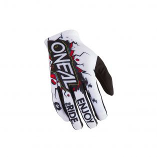 Matrix Villain MY21 Off-Road Gloves for Kids White