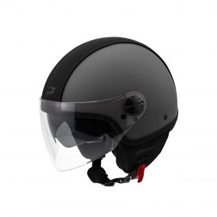 HP2.71 jet helmet with leather band Anthracite/Black
