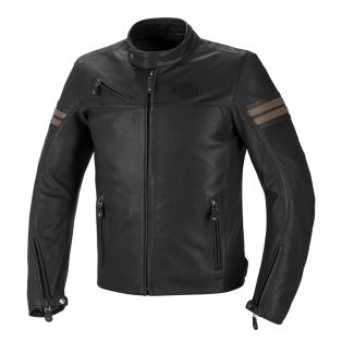 Cult leather motorcycle jacket Black/Sand