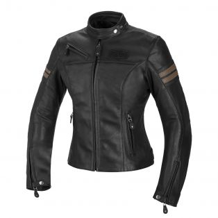 Cult Lady leather motorcycle jacket for women Black/Sand