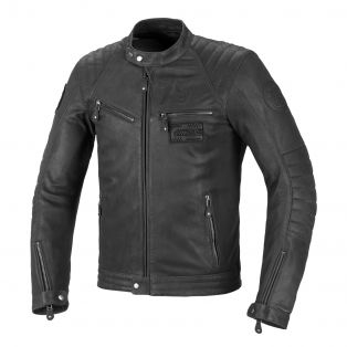 Rude leather motorcycle jacket Deep Grey