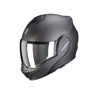 Exo-Tech Carbon Modular motorcycle helmet Solid matt black