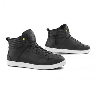 Tensho WP leather motorcycle shoes Black