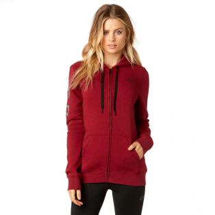 Affirmed Zip Hoody Dark Red