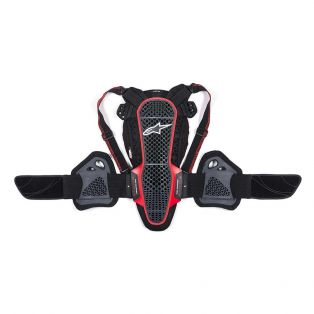 Nucleon KR-3 Back Protector Smoke Black/Red