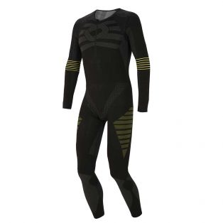 4 Season Complete Crew-Neck Long Sleeve Undersuit Black/Yellow