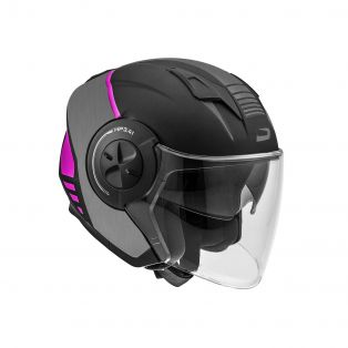 HP3.41 helmet Round Black/Fuchsia/Grey