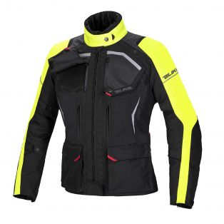 Giacca Touring Wander Waterproof Lady Nero/Antracite/Giallo Fluo