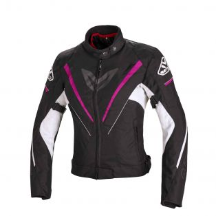 Motorcycle Jacket Fuel Tex Black/Fuchsia/White