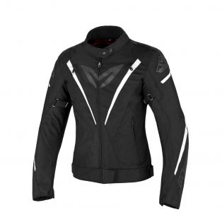 Fuel Aqvadry motorcycle jacket for ladies Black/White/Black