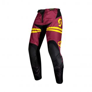 Pantaloni 350 race marrone/giallo
