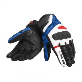 Tempest Motorcycle gloves White/Blue/Red