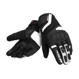 Tempest Motorcycle gloves for ladies White/Black/White