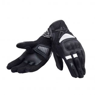Longway motorcycle gloves for lady Black/Black/White