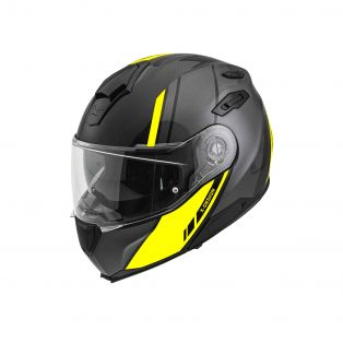 X.Vilitur Carbon flip-up helmet Glossy Neon Grey